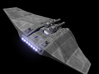 craft knight class gunship 3d model