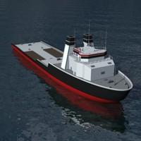utility vessel 3d 3ds