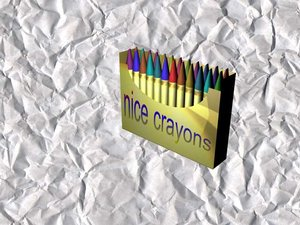 3d model crayons box