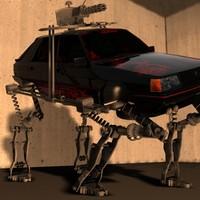 mech car renault 11 3d max