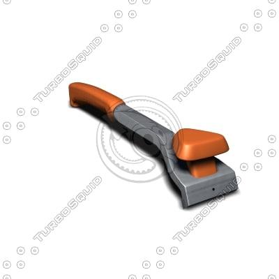 3d Model Of Paint Scraper Sandvik