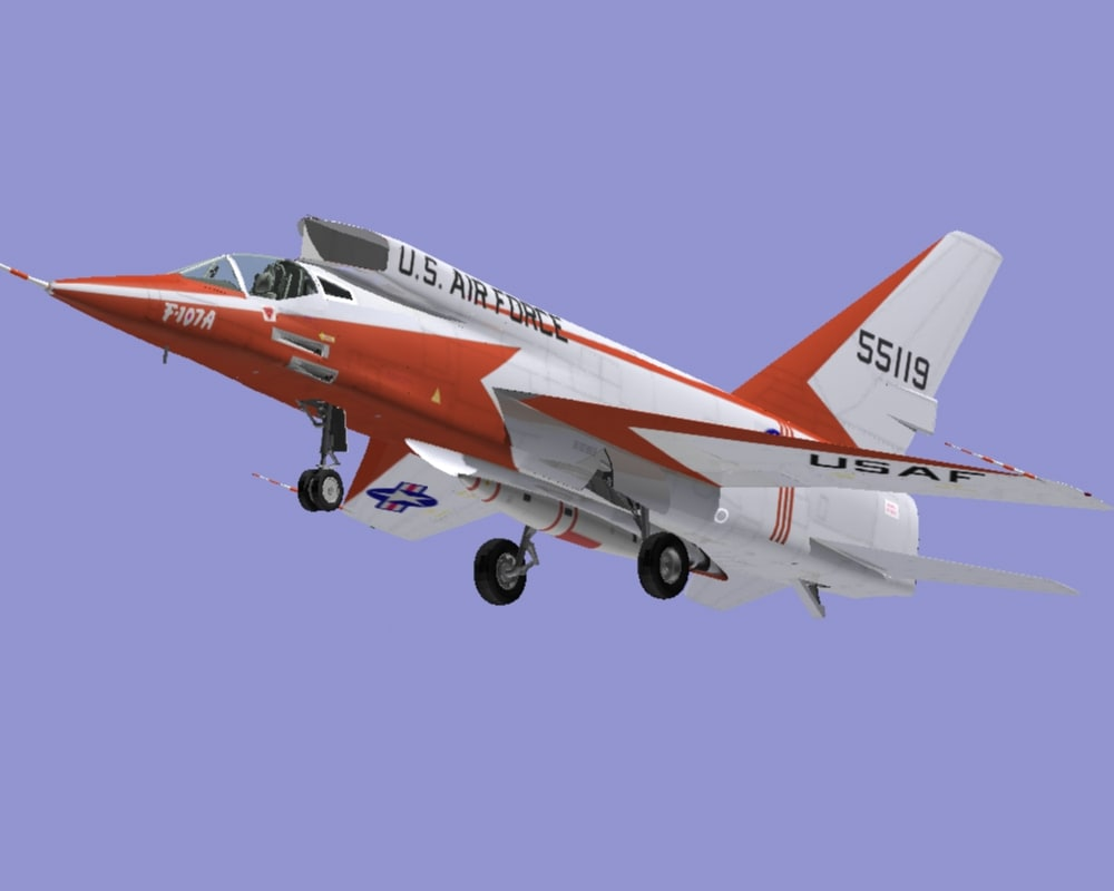 3d model f-107a jet fighter f-107s