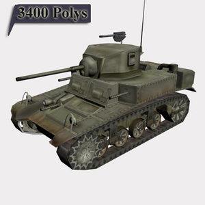m3a1 stuart tank 3d max
