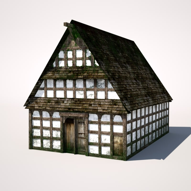 3d model medieval building