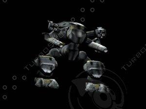 3dsmax battle mech