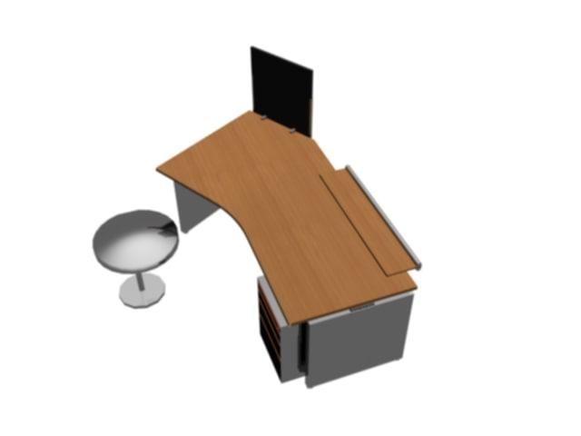 3d model deskndrawers desk drawers