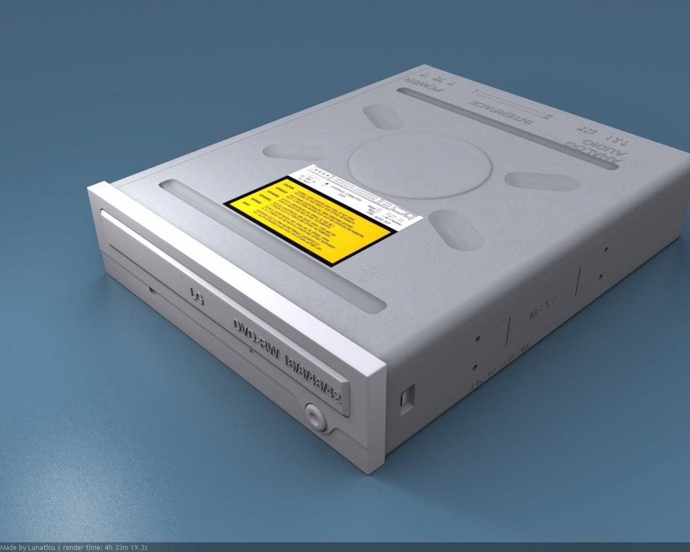 3d medium dvd-rw model