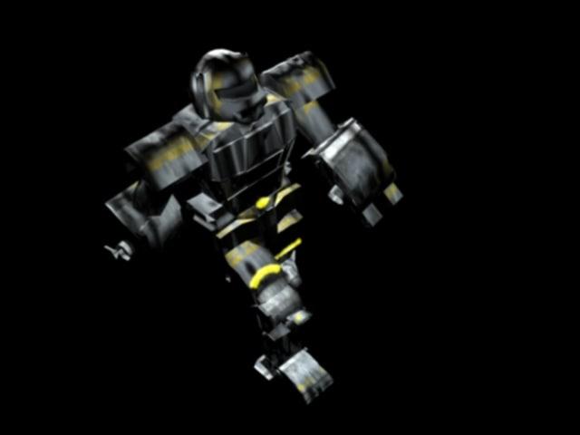 3d robot miner model