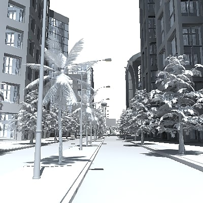 3ds max modern city buildings