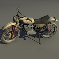 1968 yamaha dt1 dirt bike 3d model