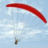 paraglider glider 3d model