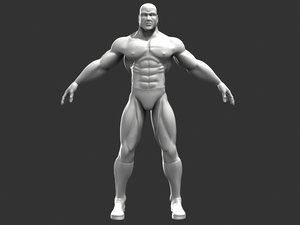 superhero male character 3d model