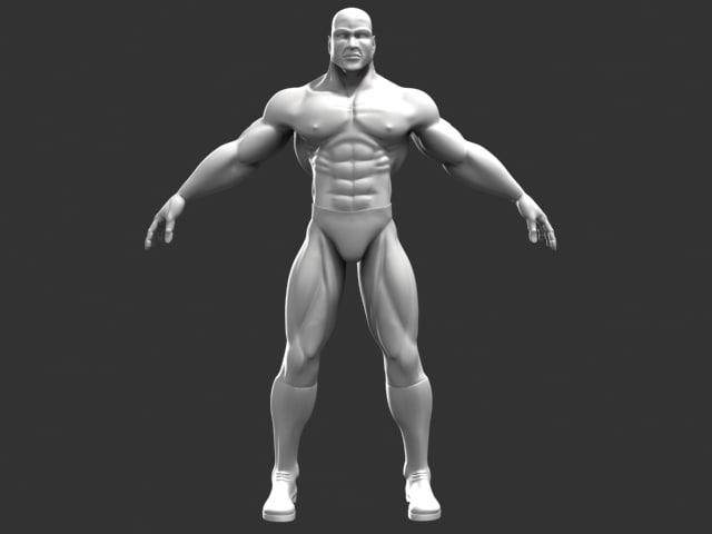 superhero male character 3d model