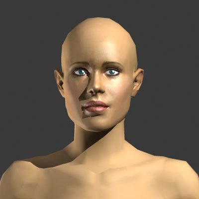 nude female 3d model