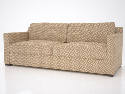 3d contemporary designer couch model