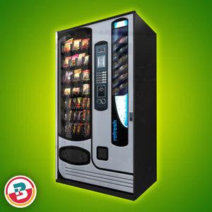 3d retail vending machine 3 model