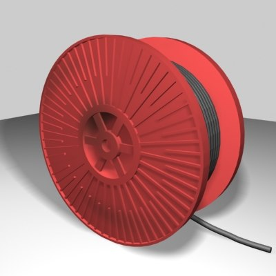 cable reel 3d model