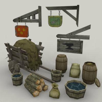 medieval environment 3d model