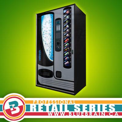 retail vending machine 2 3d max
