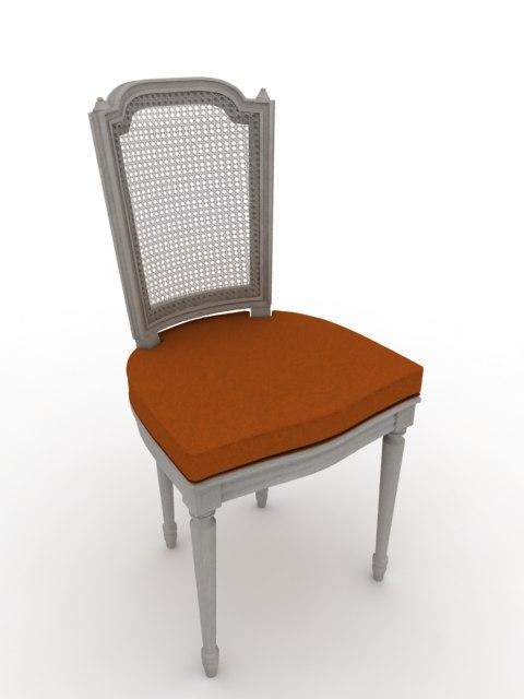 french louis xvi chair 3d model