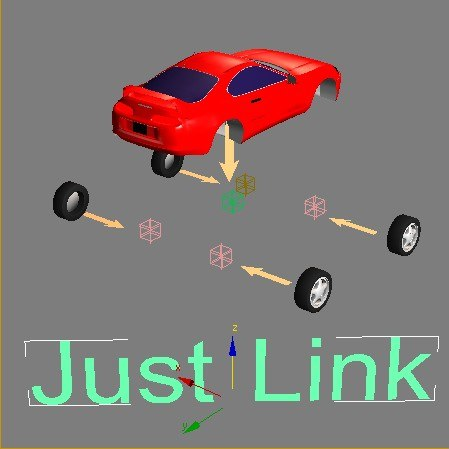 animation car 3d model