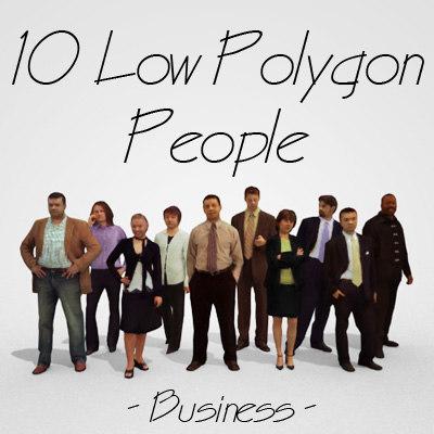people business 3d model