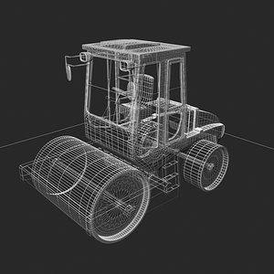 road roller compactor 3d 3ds