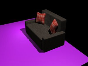 3ds max sleeper sofa
