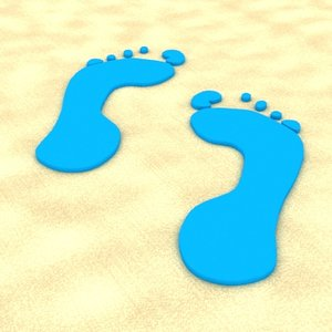 free 3ds model footprint foot print