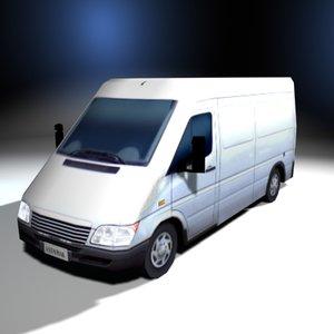 utility cargo truck van 3ds