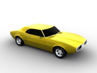 3d pontiac firebird 68 car model