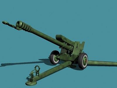 3d soviet russian howitzer model