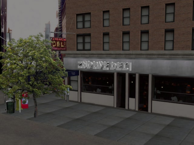 3d model of new york deli scene