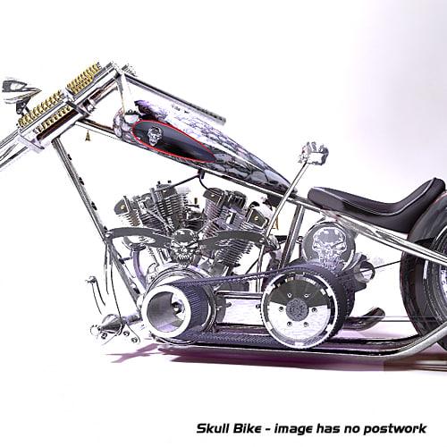 3d model skull theme chopper harley