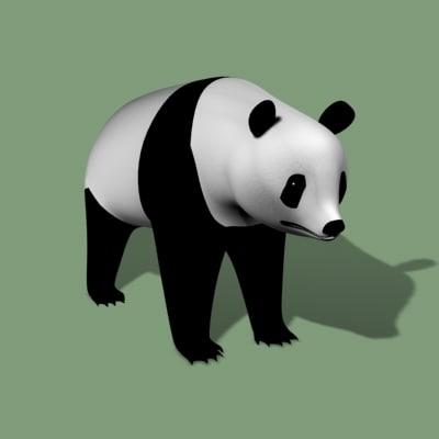 giant panda bear 3d model