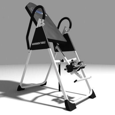 inversion table 3d model