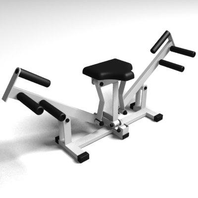 fitness pump machine exercise 3d model