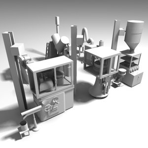 3d model pharmaceutical machinery