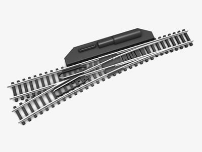 2558 right turn-out railroad track 3d 3ds