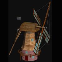 3d model holland windmill