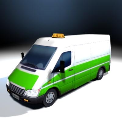 3d model utility van