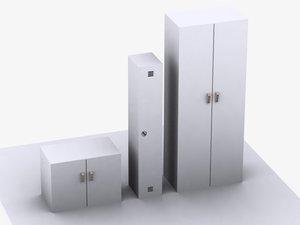 3d lockers model