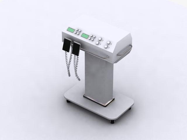 diffibrillator hospitals 3d model