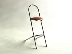 st tropez stool 3d model