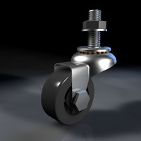 3d threaded caster