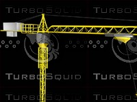 3d model crane skyscrapers