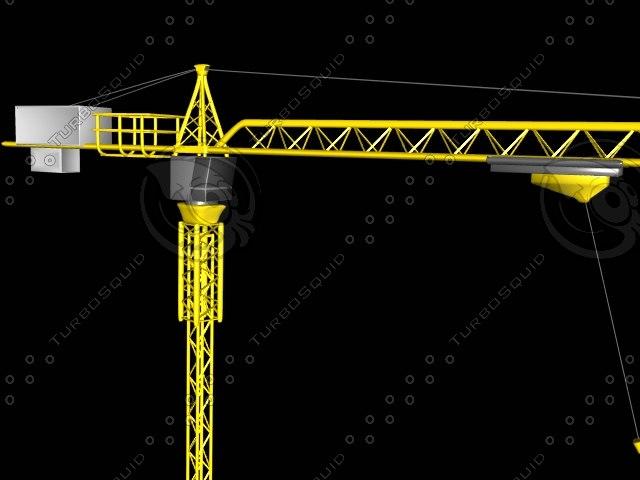 3d model crane skyscrapers