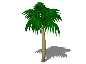 3d palm tree model