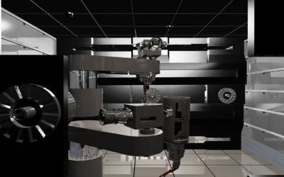 robotic scene 3d max