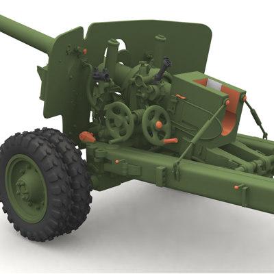 bs3 russian antitank tank 3d model